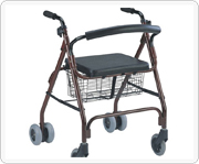 Steel or aluminum shopping trolley for the old