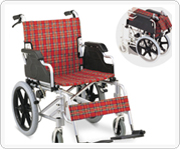 Steel or aluminum wheelchair
