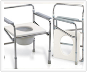 Steel or aluminum commode chair